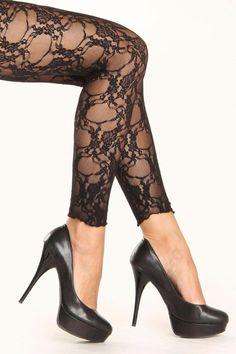 LIVCO CORSETTI Tamerin Luxury Super Soft Lace Top Fishnet Stockings