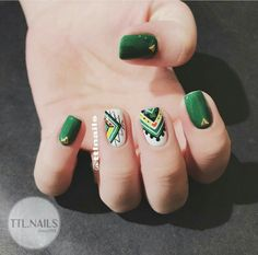 Nail Polish Designs, Nail Art Designs, Luv Nails, Tribal Nails, Gel Nail Art, Short Nails, Nails Inspiration, You Nailed It, Hair And Nails