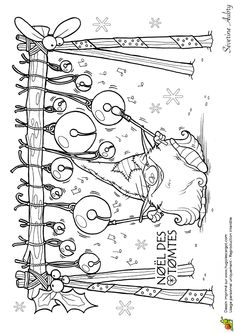 Les Tomtes Lutins Suedois Grelots, page 10 sur 12 sur HugoLescargot.com ... a lot of beautiful coloring pages!