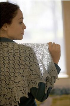 Ravelry: Swallowtail Shawl pattern by Evelyn A. Clark free 437 yd m) lace weight yarn is all Lace Knitting Patterns, Lace Patterns, Free Knitting, Baby Knitting, Knitted Shawls, Crochet Shawl, Knit Crochet, Pattern Library, Knitting Accessories