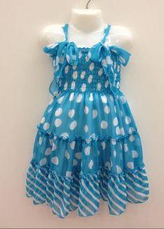 LL3785-B Girls 2-6X Dress