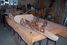Image Wooden Kayak, Outdoor Furniture, Outdoor Decor, Kayaking, Bench, Dining Table, Building, Image, Home Decor
