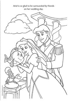 ariel coloring pages wedding flowers | Coloring Pages on Pinterest | Coloring Pages, Disney ...