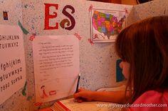 www.myveryeducatedmother.com #Homeschool Cubbies