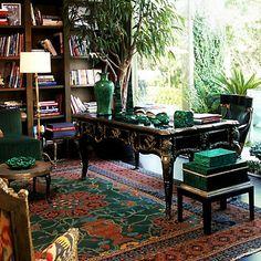 A melange of malachite accessories   #onekingslane and #designisneverdone