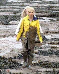 Raincoat Jacket, Yellow Raincoat, Rain Jacket, Mudding Girls, Rain Gear, I Love Girls, Girls Wear, Outfit, Photos