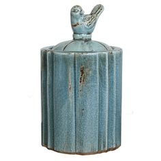 Bluebird Canister by Ecochic http://www.ecochic.com.au/shop/Shop+by+Category/Homewares+%26+Decor/Decorative+Objects/Bluebird+Canister.html $30