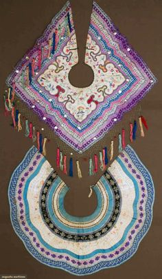 Augusta Auctions, April 17, 2013 - NYC: Two Oversize Embroidered Collars, China, 19th C