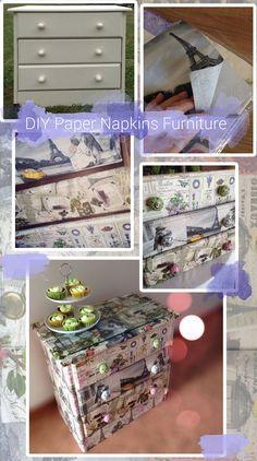 DIY decoupage: upcycle old wooden furniture using paper napkins and Mod Podge  Serviettentechnik Kommode