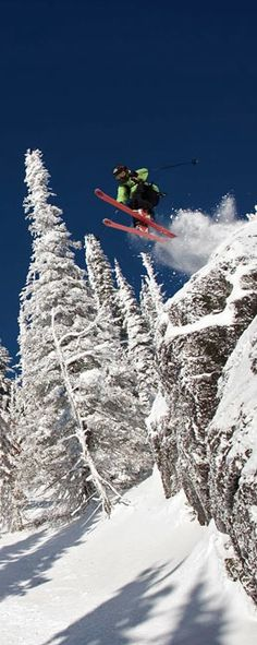 Awesome Ski Jump By Dan Carr #ski #nature #jump #snow #mountains #winter #skiing