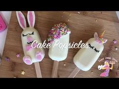 Unicorn Cake Popsicles - YouTube