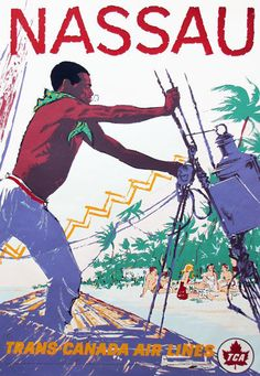 Trans Canada Air Lines * Nassau Bahamas #Travel #Poster (1960s)