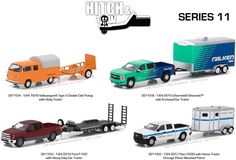 1:64 Scale Greenlight Collectables Hitch & Tow Series 11 Set of 4