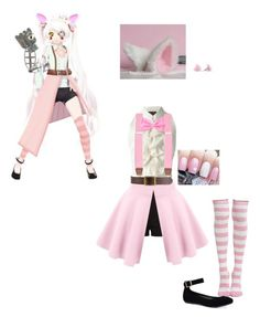 """""""Fnaf MMD Mangle"""" by manglethefox1 ❤ liked on Polyvore featuring art"""