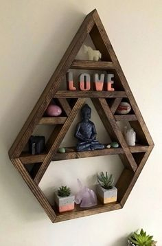 Chakra, Large crystal display shelf, crystal display shelf, crystals, bhuda, crystal display, wall shelves, altar, bohemian decor, moon phas