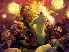 "mallow213: listning to ""Horn pipe"" by Dread Crew of Oddwood 映画のかっこいいレゴラスもいいけど原作の頭にお花畑広がってるレゴラスが好きだな〜 ごきげんよう! Tolkien Books, Jrr Tolkien, Hobbit Art, The Hobbit, Legolas And Gimli, I See Fire, Bagginshield, Fantasy Books, Lord Of The Rings"