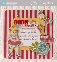 Girl Card from Sweet Girl Collection. #echoparkpaper