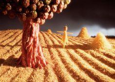 Carl Warner foodscapes Landscape Photos, Landscape Art, Carl Warner, Edible Art, Food Art, Illusions, Flowers, Miniature, Dragon