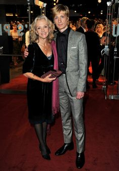 Actress Hayley Mills & musician Crispian Mills (born 18 January 1973 as Crispian John David Boulting in Hammersmith, London, England; also known as Krishna Kantha das). He's an English singer, songwriter, guitarist & film director | Son of actress Hayley Mills & director Roy Boulting; grandson of Sir John Mills & Mary Hayley Bell (Lady Mills); nephew of Juliet Mills & director Jonathan Mills & half-brother to Jason Lawson | He was frontman of the psychedelic indie rock band Kula Shaker.