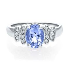 Oval Tanzanite & Diamond Ring in 14K Gold - December - Birthstones - Jewelry - Categories - Helzberg Diamonds