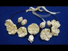 D.I.Y. Kanzashi Tiara - Tutorial - YouTube