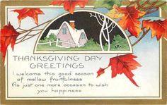 Thanksgiving~Art Deco~Red Orange Autumn Leaves~Purple House~Gold~Whitney Made | eBay