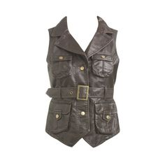 4 Pocket Vest - Teen Clothing by Wet Seal ($9.90) ❤ liked on Polyvore featuring outerwear, vests, tops, blusas, jackets, wet seal and vest waistcoat