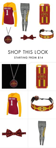 """""""Iowa State"""" by smithy-32 ❤ liked on Polyvore featuring Stockdale, Forever Collectibles, Campus Heritage, GameWear, Eagles Wings and Concepts Sport"""