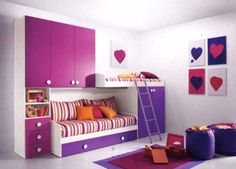 Modern Purple Girls Bedrooms Design Ideas