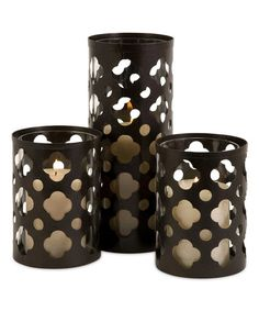 Love this Norte Cutout Candleholder Set on #zulily! #zulilyfinds