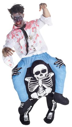 Be a showstopper with Skeleton Piggyback Adult Costume. Endless Range of Skeleton & Skull Costumes for Halloween at CostumePub. Spooky Halloween Costumes, Halloween Eve, Piggyback Costume, Clever Costumes, Zombie Makeup, Adult Costumes, Skeleton, Illusions, Skull
