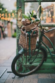 Bikes with baskets.