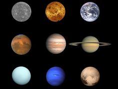 Foto de familia del sistema solar