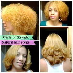 Curly or straight, natural hair rocks