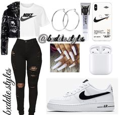 Baddie Outfits Casual, Swag Outfits For Girls, Teenage Girl Outfits, Cute Swag Outfits, Girls Fashion Clothes, Teen Fashion Outfits, Dope Outfits, Retro Outfits, Girly Outfits