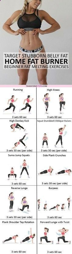 Belly Fat Burner Workout - #womensworkout #workout #femalefitness Repin and share if this workout melted away your stubborn fat! Click the pin for the full workout. Belly Fat Burner Workout