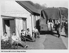 Kinloss MRT at Onich village hall base. circa 1987.