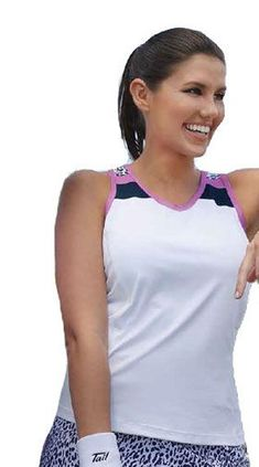 CLEARANCE Tail Ladies Tennis Racerback Performance Jersey Tops – Rawr Power  (White Navy Blue 9f4ef1e58