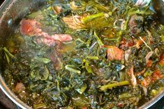 This was a staple on every holiday table I had growing up. It's super easy to make – for this recipe, I used collard greens, mustard greens, and turnip greens. I hope you enjoy! HERE'S THE TUTORIAL. Southern Collard Greens, Collard Greens Recipe, Southern Mixed Greens Recipe, Best Mixed Greens Recipe, All You Need Is, Style Vert, Beste Brownies, Cooking Recipes, Recipes
