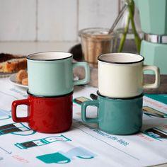 Turquoise Enamel Style Espresso Cup | DotComGiftShop