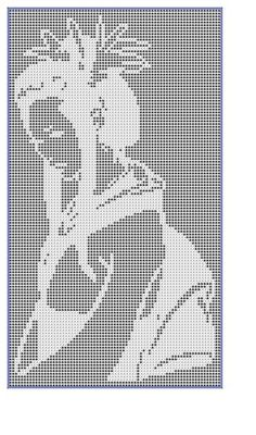 Filet Crochet Pattern-Geisha