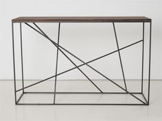 Wooden console table Mikado Collection by INTERNI EDITION | design Janine Vandebosch