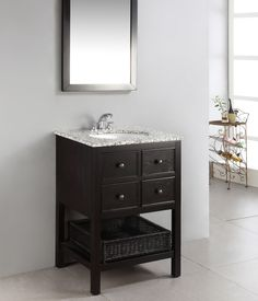Inch Single Sink Bathroom Vanity With A Distressed Gray Finish - 24 inch bathroom vanity gray