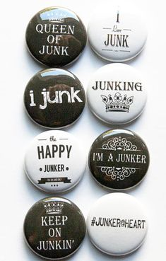 Junking 2 Flair by aflairforbuttons on Etsy, $6.00 #aflairforbuttons #junking #ilovejunk