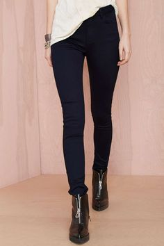 Two-Toned Skinny Jean