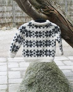baby strik sweater med stjerner strikkekit