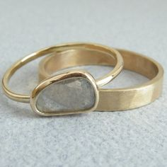 rings. Would make a lovely and different wedding set.