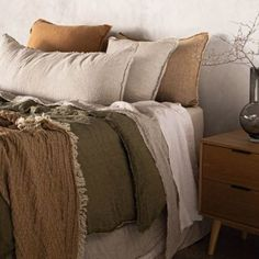 Luxurious European Linen Bedding & Linen Sheets | Hale Mercantile Co. Linen Sheets, Linen Duvet, Sofa Throw Cover, Bedding Shop, My Dream Home, Luxury Bedding, Pure Products, Pillows, Furniture