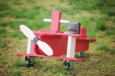 Wooden Airplane Toy Photo Prop