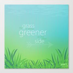 Greener Grass Stretched Canvas by TawnART - $85.00